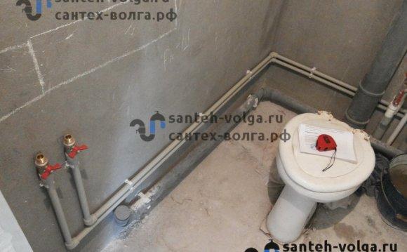 Монтаж водопроводных труб в