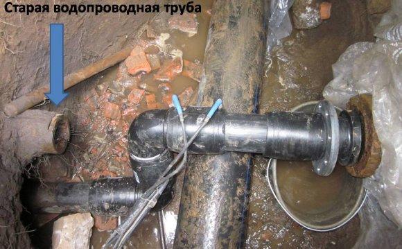 труба водопровода прокладка