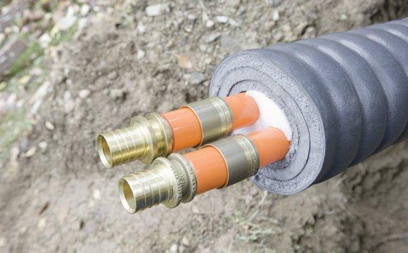 Утепление водопроводных труб в